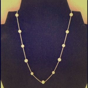 Vintage Silver tones chain with pearls.
